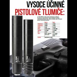 """Tlumič A-TEC, PMM-45, modulový, impulzní pro pistole, ráže do .45"""", na závit 0,578-28 TPI"""