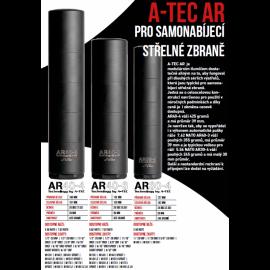 """Tlumič A-TEC, AR 40-4, modulový, pro ráže do .30"""" (7,62mm), na závit M14x1mm"""
